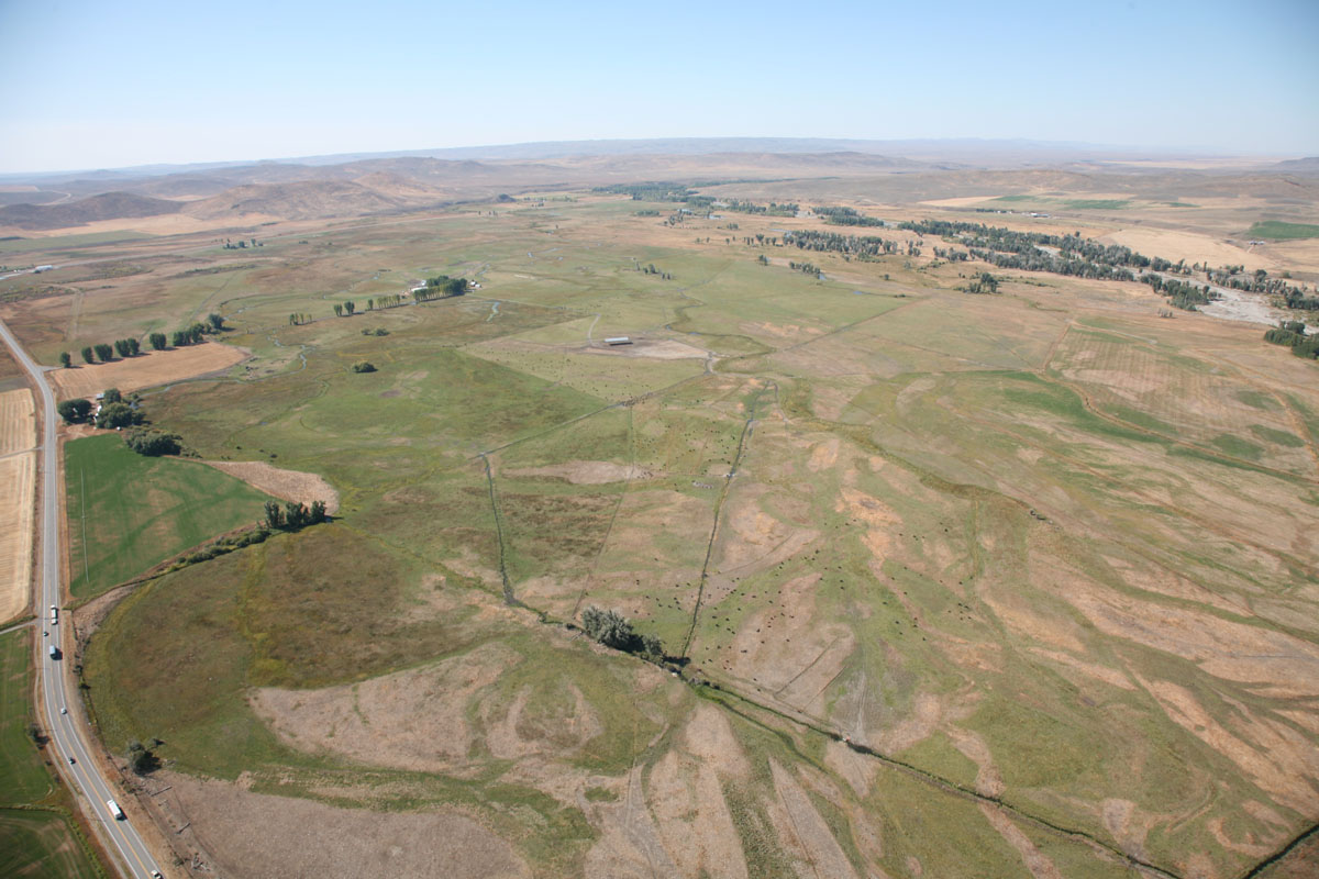 Heartrock Ranch before restoration with flood irrigation